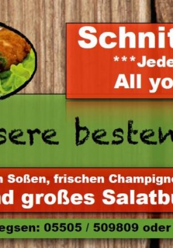 Freitags Schnitzel satt
